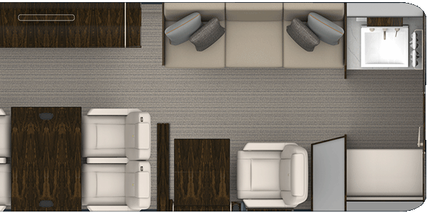 Forward Galley with 4 Living Areas