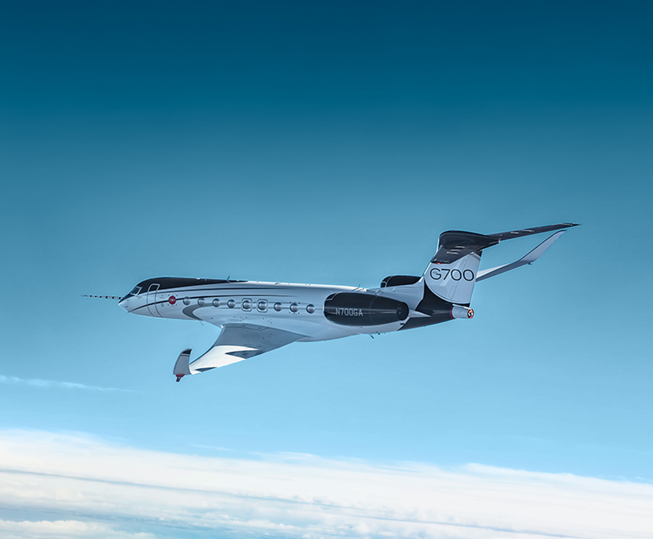 G700 in flight